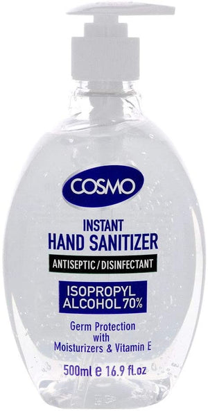 COSMO Advanced Instant Antiseptic & Disinfectant Hand Sanitizer (500 ml). - shopperskartuae