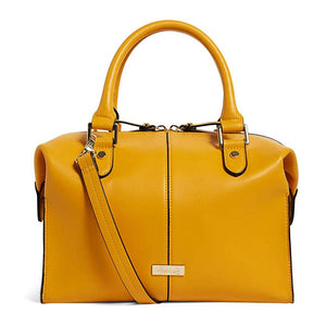 Harrods Greenwich Yellow Barrel & Cross Body Handbag. - shopperskartuae