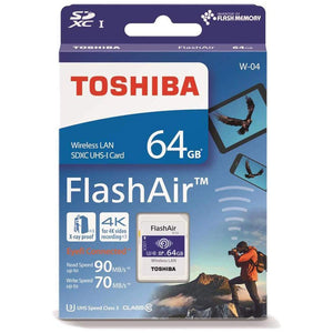 Toshiba FlashAir W-04 64 GB SDXC Class 10 Memory Card. - shopperskartuae