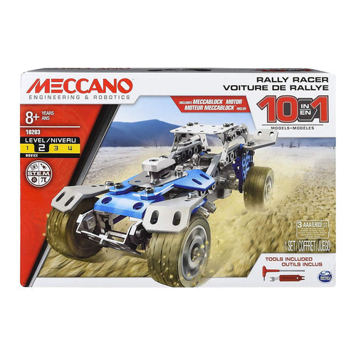 Erector by Meccano 10 in 1 Rally Racer Model Vehicle Building Kit, STEM Education Toy for Ages 8 & Above. - shopperskartuae