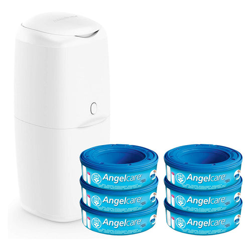 Angelcare Nappy Disposal System (Value Pack). - shopperskartuae