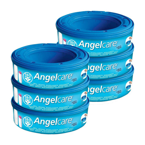Angelcare Nappy Disposal System Refill Cassettes Wrappers Bags Sacks (6 Pack). - shopperskartuae