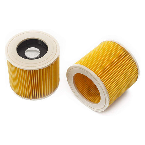 LTWHOME Replacement Cartridge Filter for Karcher WD2200 WD2240 A2200 VC6200 Wet & Dry Vacuum Cleaners,Compare to Part # KAR64145520 (Pack of 2) - shopperskartuae