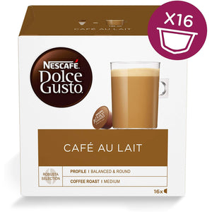 Nescafe Dolce Gusto Cafe Au Lait Coffee Capsules (16 Servings). - shopperskartuae
