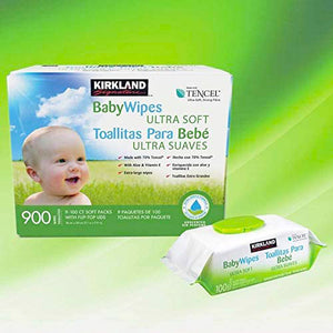 Ultra Soft Baby Wipes By Kirkland Signature (Unscented, 900 Wipes). - shopperskartuae
