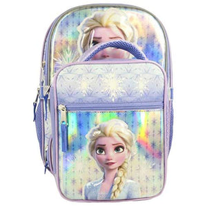 Frozen 2 Backpack with Lunch Bag (Light Blue). - shopperskartuae