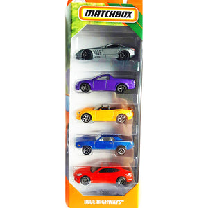 Matchbox Blue Highways Cars Collection (5 Pieces). - shopperskartuae