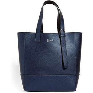 Harrods Fern Buckle Metallic Navy Reversible Tote Bag - shopperskartuae