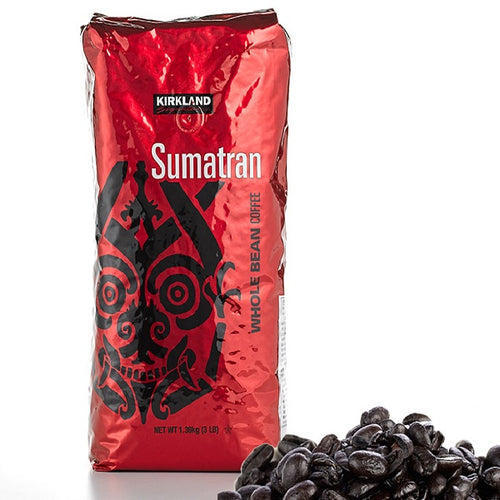 Kirkland Signature Sumatran Whole Bean Coffee (3 lb Pack). - shopperskartuae