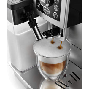 De'Longhi Compact Bean-To-Cup Coffee Machine, Silver, ECAM 23.460.S - shopperskartuae