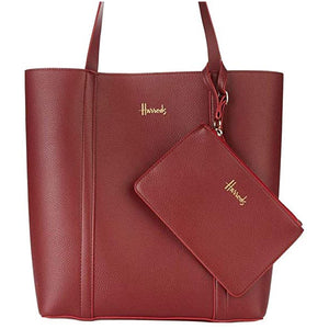 Harrods New Fern Red Merlot Tote Reversible Bag. - shopperskartuae