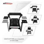 GT Omega Racing Wheel Stand PRO for Logitech G29 G920 with Shifter Mounts V1 & V2, Thrustmaster T500 T300 TX & TH8A - PS4 Xbox Fanatec - Tilt-Adjustable to Ultimate Gaming Console Experience - shopperskartuae