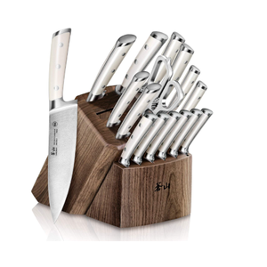 Cangshan S1 Series 1022599 German Steel Forged 17-Piece Knife Block Set, Walnut