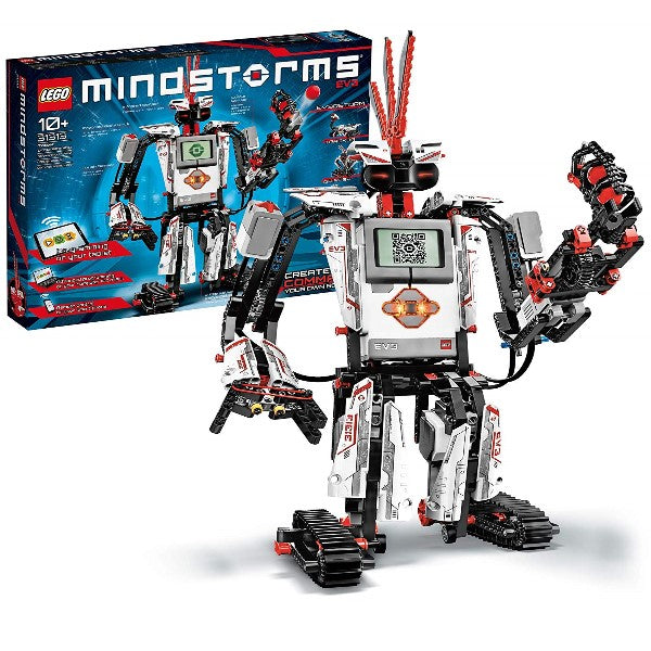 LEGO MINDSTORMS EV3 31313 Robot Kit with Remote Control for Kids, Educational STEM Toy for Programming and Learning How to Code (601 pieces) - shopperskartuae