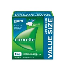 Nicorette Gum, Extreme Chill Mint, 2 mg, 210 Count Value Pack Nicotine Gum - shopperskartuae
