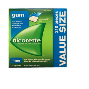 Nicorette Gum, Extreme Chill Mint, 4 mg, 210 Count Value Pack Nicotine Gum - shopperskartuae