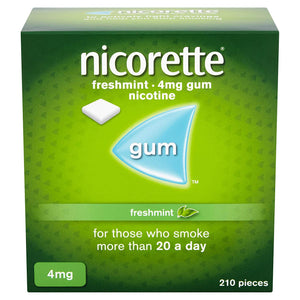 Nicorette Fresh Mint Chewing Gum (4 mg, 210 Pieces). - shopperskartuae