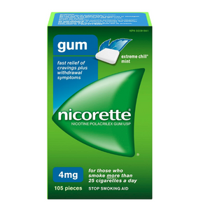 Nicorette Gum, Extreme Chill Mint, 4 mg, 105 Count - shopperskartuae