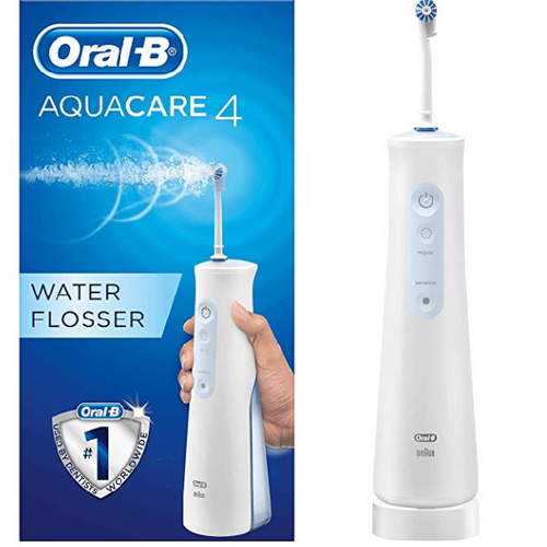 Oral-B Aquacare 4 Water Flosser Cordless Irrigator, Featuring Oxyjet Technology and 4 Cleaning Modes - shopperskartuae