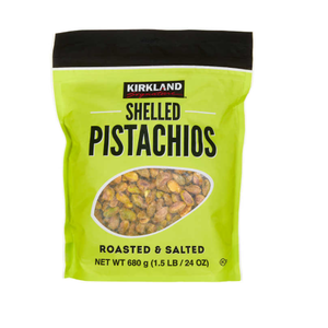 Kirkland Signature Shelled Pistachios (680g) - Roasted And Salted.
