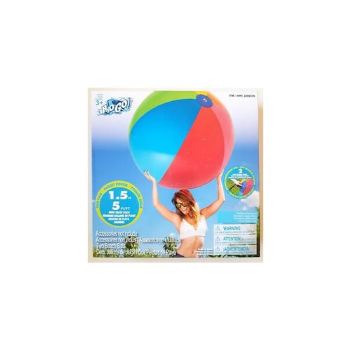 H2OGo Huge Giant Beach Balls Two Pack, Both Beach Balls are 5 Feet,1.5M - shopperskartuae