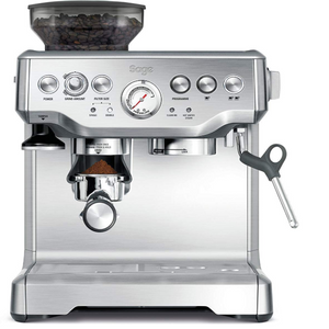 Sage BES875UK The Barista Express Coffee Machine with Temp Control Milk Jug, Brushed Stainless Steel). - shopperskartuae