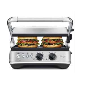 Sage SGR700BSS the BBQ & Press Grill (Brushed Stainless Steel) - One Touch Perfect, Burger and Steak