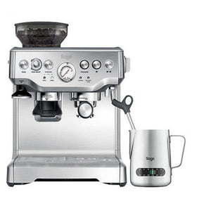 Sage BES875UK The Barista Express Coffee Machine with Temp Control Milk Jug, Brushed Stainless Steel).