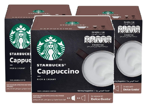 Starbucks Cappuccino by Nescafe Dolce Gusto (12 Capsules) (Pack of 3)