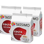 Tassimo Costa Cappuccino Coffee 16 Discs, 8 servings,(3 Pack)