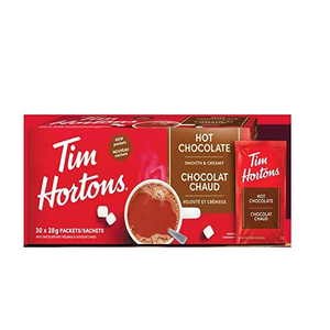 Tim Hortons Hot Chocolate mix Sachets 30 X 28g box