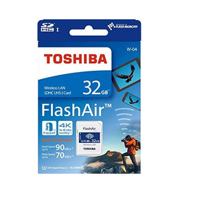 Toshiba FlashAir W-04 32 GB SDHC Class 10 Memory Card - shopperskartuae