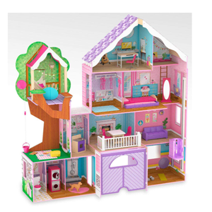 Kidkraft Treehouse Retreat Mansion Dollhouse Girls Kids Play Doll Wooden Toy Lights Sound