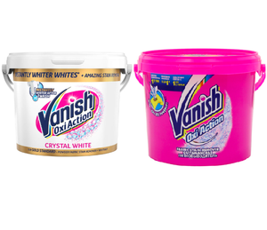 Vanish Gold Fabric Stain Remover Oxi Action Powder Whites, 2.4Kg +Vanish  Pre-Treat Spray 2.5kg