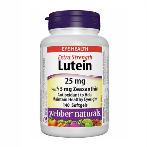 Webber naturals Lutein 25 miligram 140 softgels - shopperskartuae
