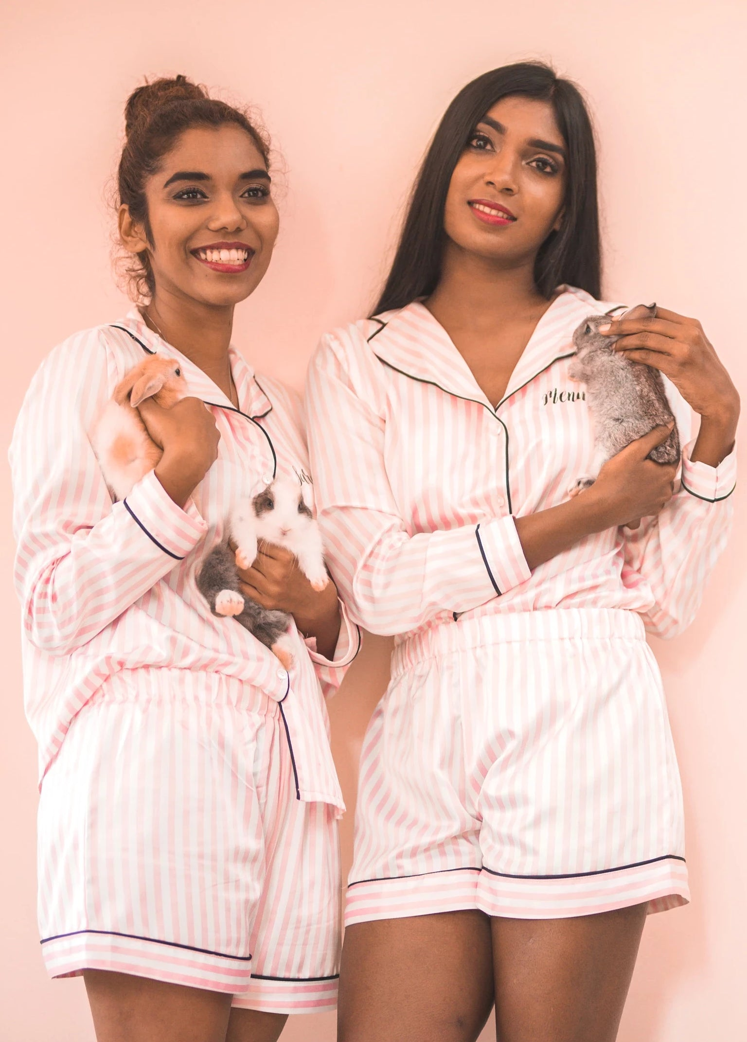 Candy Blush Satin Bridesmaid Pyjama Set