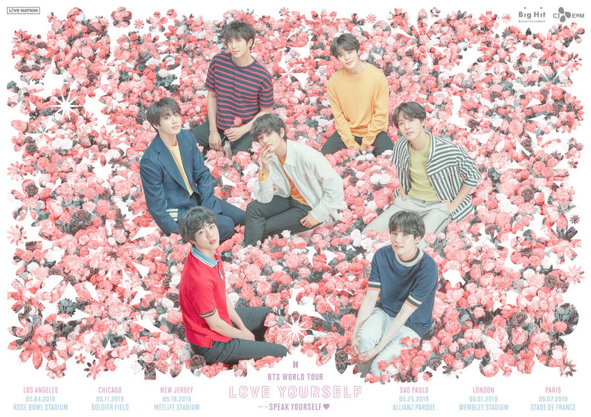 BTS announced the dates and cities for their upcoming tour, Love Yourself: Speak Yourself.