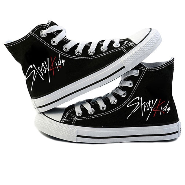 Stray Kids Canvas Shoes high-top Korean Style 2019