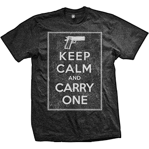 1911 Keep Calm And Carry One T-Shirt (TriBlack)