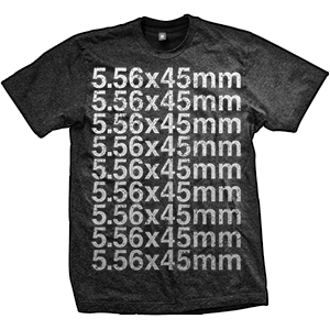 5.56x45mm NATO Caliber T-Shirt (TriBlack)