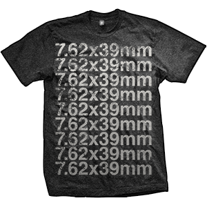 7.62x39mm Caliber T-Shirt (TriBlack)