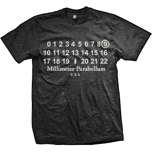9mm Parabellum Fashion T-Shirt (TriBlack)