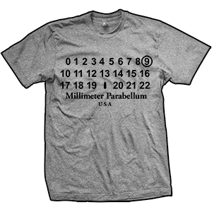 9mm Parabellum Fashion T-Shirt (TriGrey)
