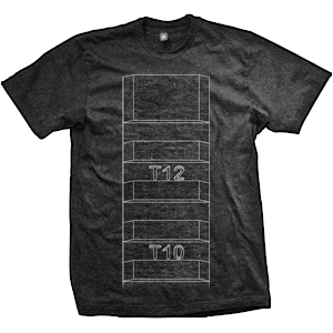 AR-15 Picatinny Rail T-Shirt (TriBlack)