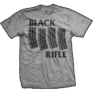 AR-15 Black Rifle T-Shirt (TriGrey)