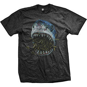 Brass Shark T-Shirt (TriBlack)