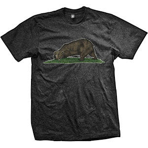 California Bear Exhausted And Disarmed T-Shirt (TriBlack)