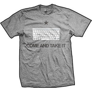 Come And Take It Keyboard T-Shirt (TriGrey)
