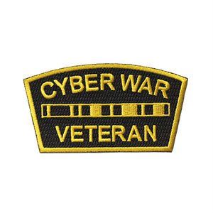 "Cyber War Veteran Logo Morale Patch (2x4"")"