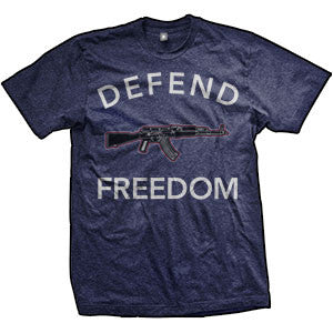 Defend Freedom AK-47 T-Shirt (TriIndigo)